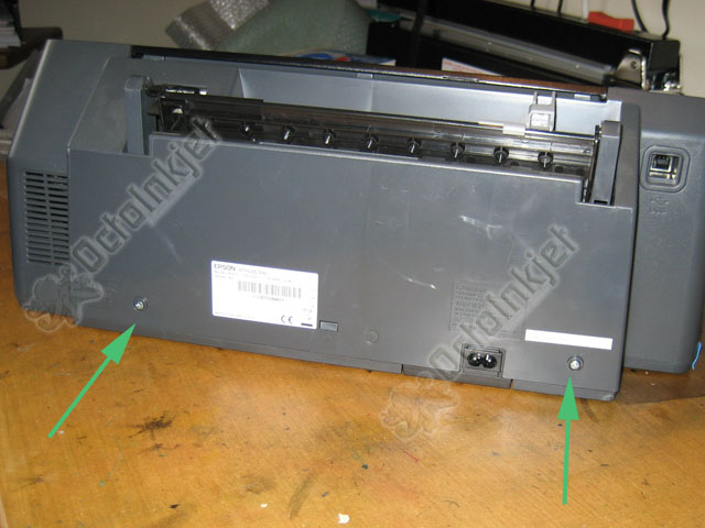 D92 : Back of printer