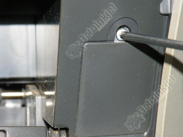 RX560 - Screw cover removed. Remove screw