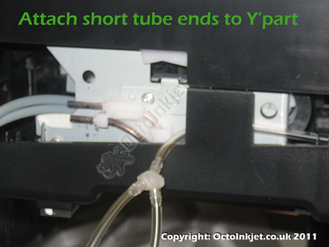 Re-attach shorter tube parts to Y-part