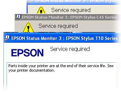 Service Required - Epson Error when waste pads are full