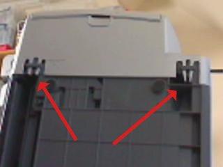 Releasing the clips underside